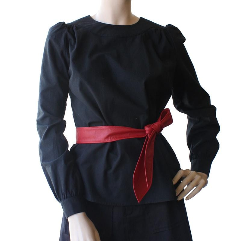 Long Sleeve Smock Top - Black