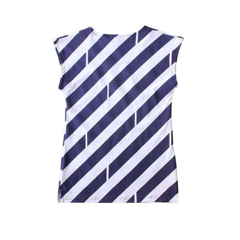 Classic Dragstar Printed Tee - navy/white stripe