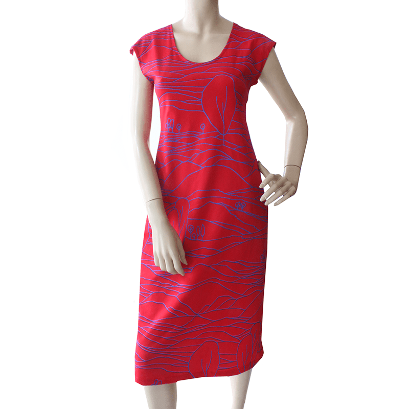 Dragstar Ethical womens fashion made in Sydney Red All Too Easy Dress