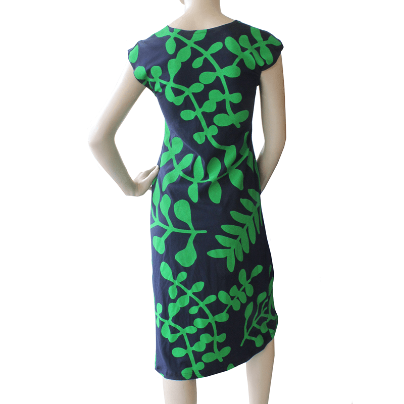 ca57eabe3971 All Too Easy Dress - Green Navy Branch Ethical Womens Fashion Made in  Sydney Australia