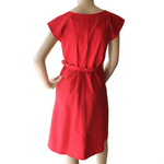 Saskia Dress - Red with Japanese dot print