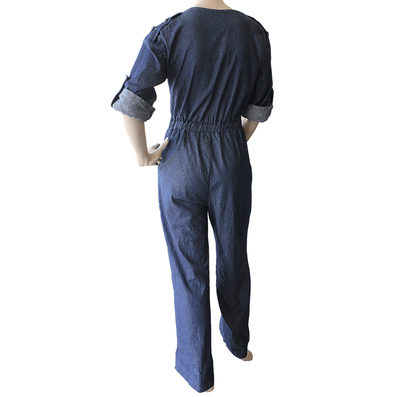 Boatneck Jumpsuit - Denim