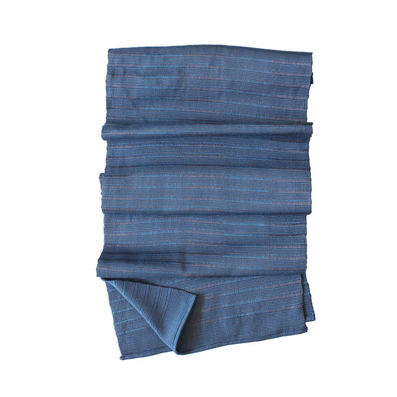 Weftshop Rayon Scarf - Two Tone Blue