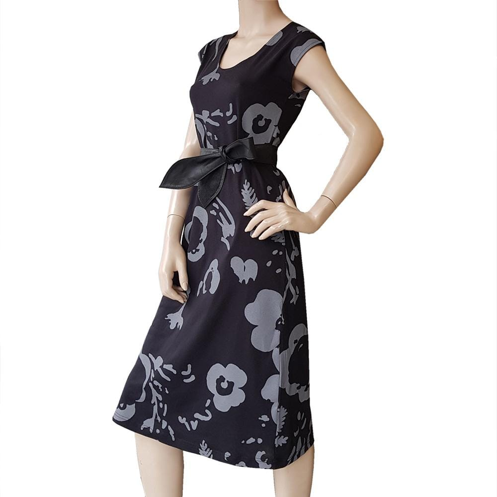 All Too Easy Dress - Botanical Black