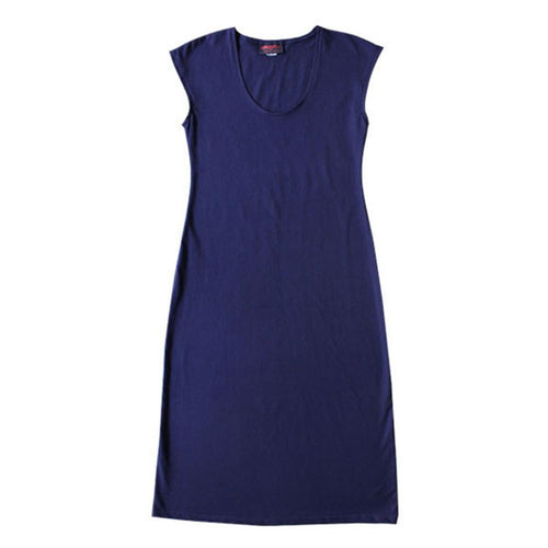 all too easy cotton jersey navy dress made in sydney australia Dragstar