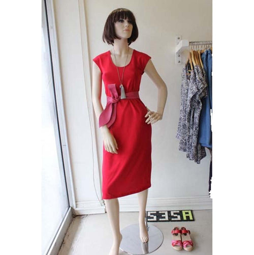 All Too Easy red cotton jersey dress made in Sydney Australia Dragsta