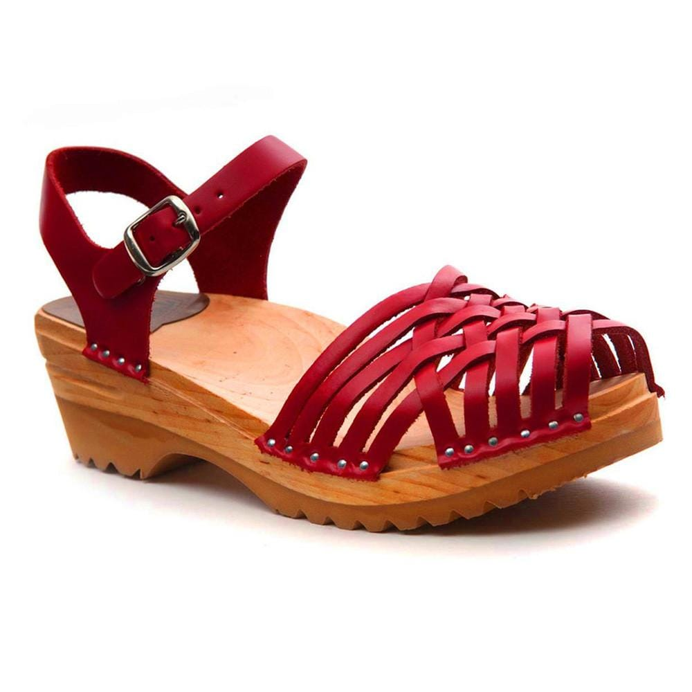 Troentorp 'Anna' Clogs - Red Leather