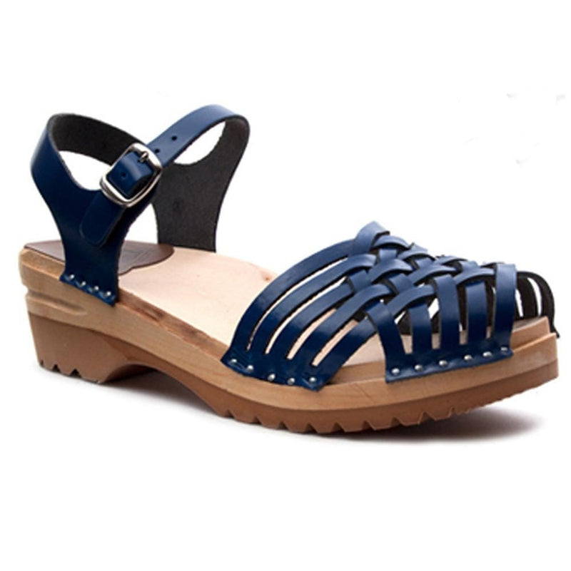 "Troentorp ""Anna"" Clogs - Navy Leather"