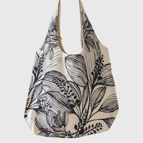 Dragstar Clothing Sydney Apple Green Duck foliage shopper floral tote bag screen printed