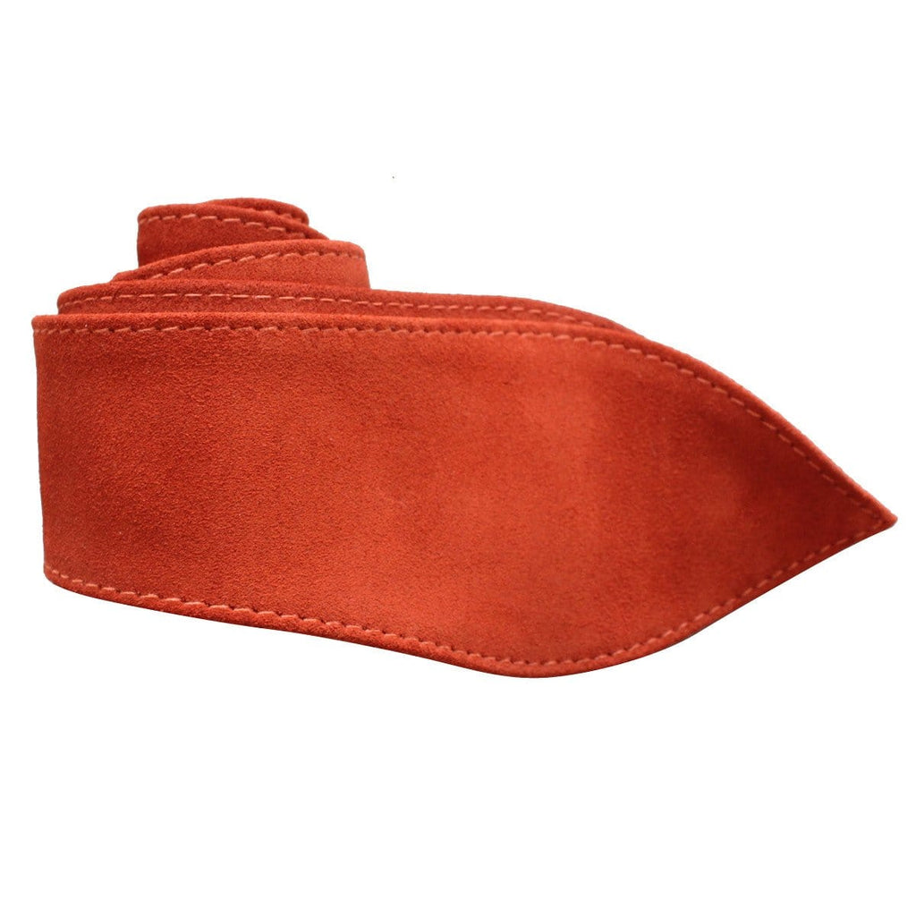 Leather Tie Belt - Rust Suede