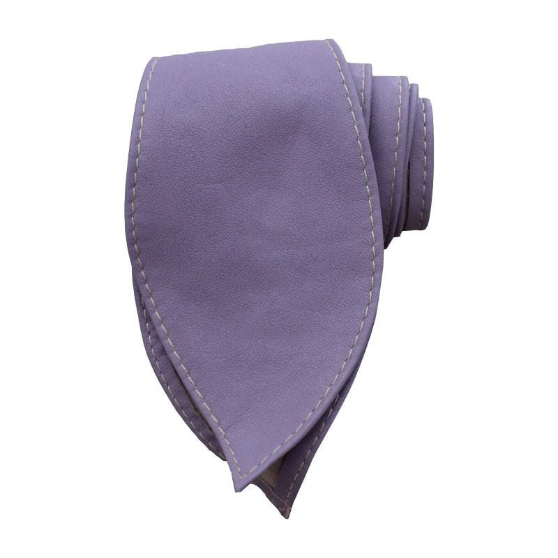 Leather Tie Belt - Lavender