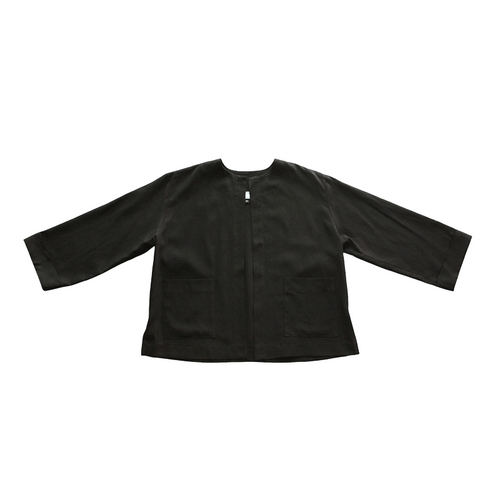 Dragstar Boxy Jacket - Black Tencel