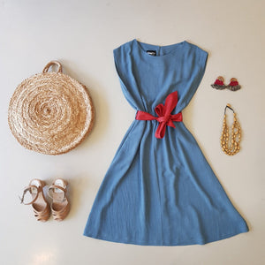 Dragstar Bateau Dress - teal blue Dragstar Ethical Womens Slow fashion made in Sydney