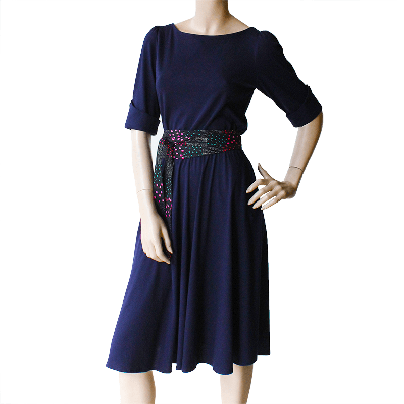 Amy Dress - Navy Cotton Jersy