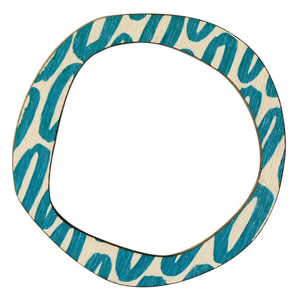 Scoops Reversible Bangle - Blue Hoop