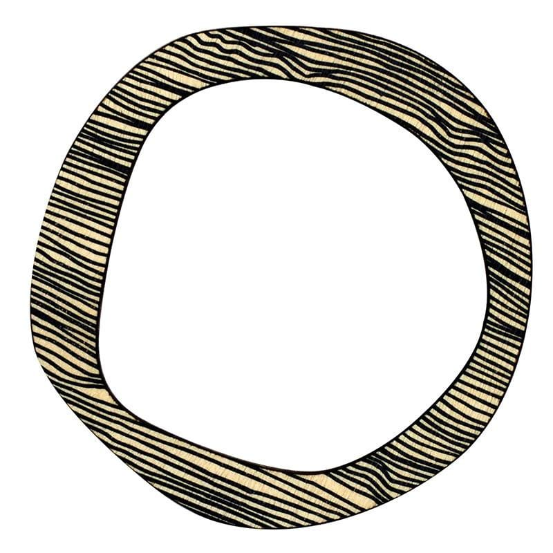 Scoops Reversible Bangle - Black Thin Stripe