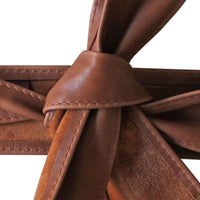 Dragstar Leather Tie Belt - Dark Tan