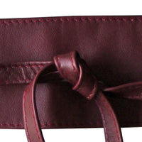 Dragstar Leather Double Tie Belt - Burgundy