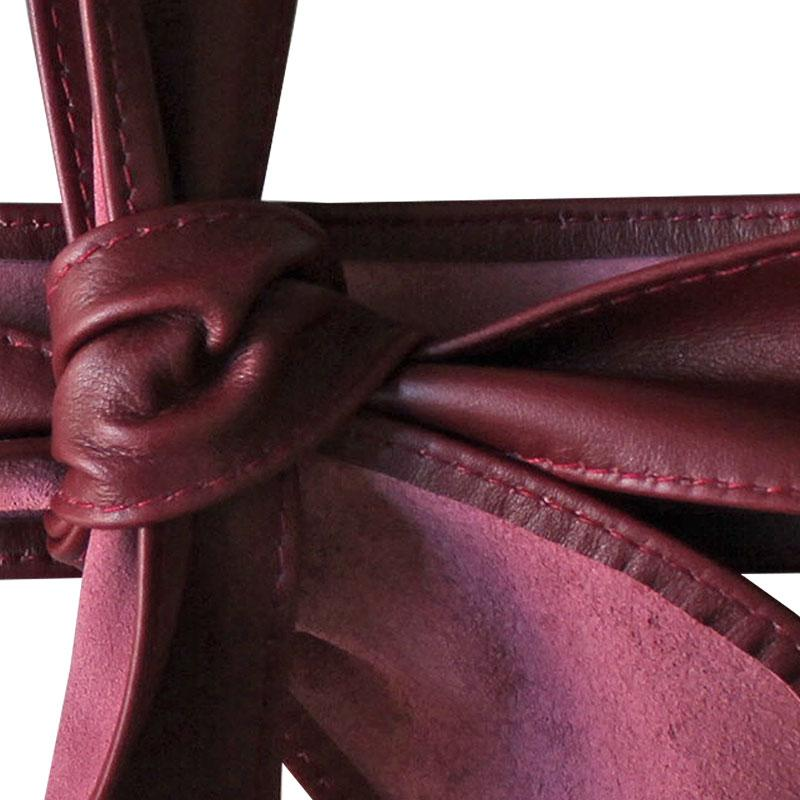 Dragstar Leather Tie Belt - Burgundy