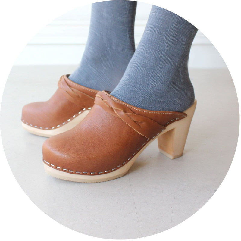 Stockholm Clog With Braid - Tan