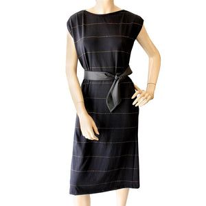 Dragstar Ethical womens fashion made in Sydney black gold lurex dress