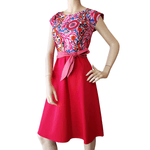 Dragstar Saskia Dress - Cerise Dotty Bloom