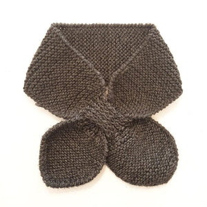 Hand Knitted Neck Warmer - Dark Grey