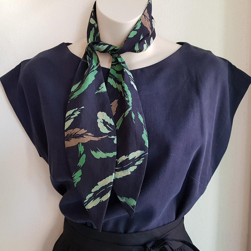 Silk Neck Tie - Leaf Print