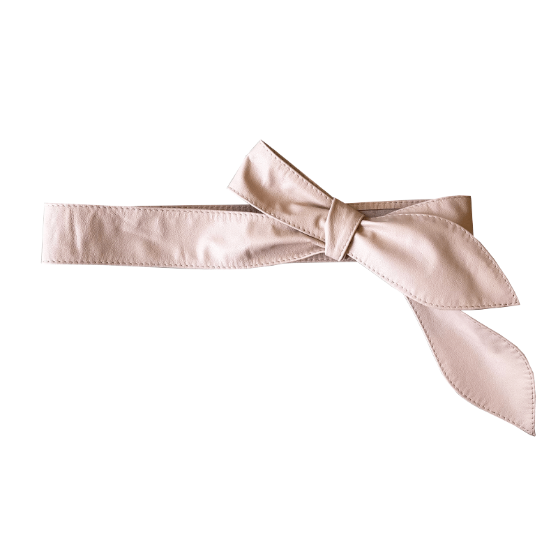 Dragstar Leather Tie Belt - Blush