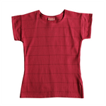 Dragstar Striped Tee - Rosewood