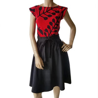 Double Wrap Skirt - black cotton drill Dragstar Ethical womens fashion made in Sydney