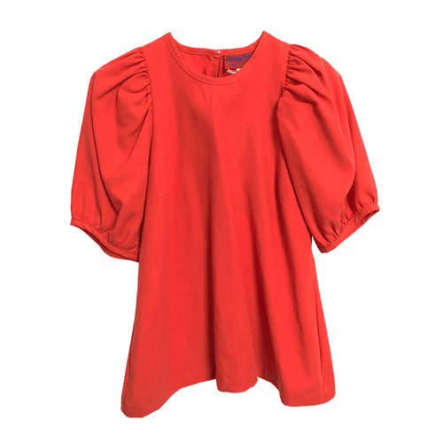 Dragstar Trapeze Top - Orange Tencel ethical womens wear made in Sydney Australia Slow fashion