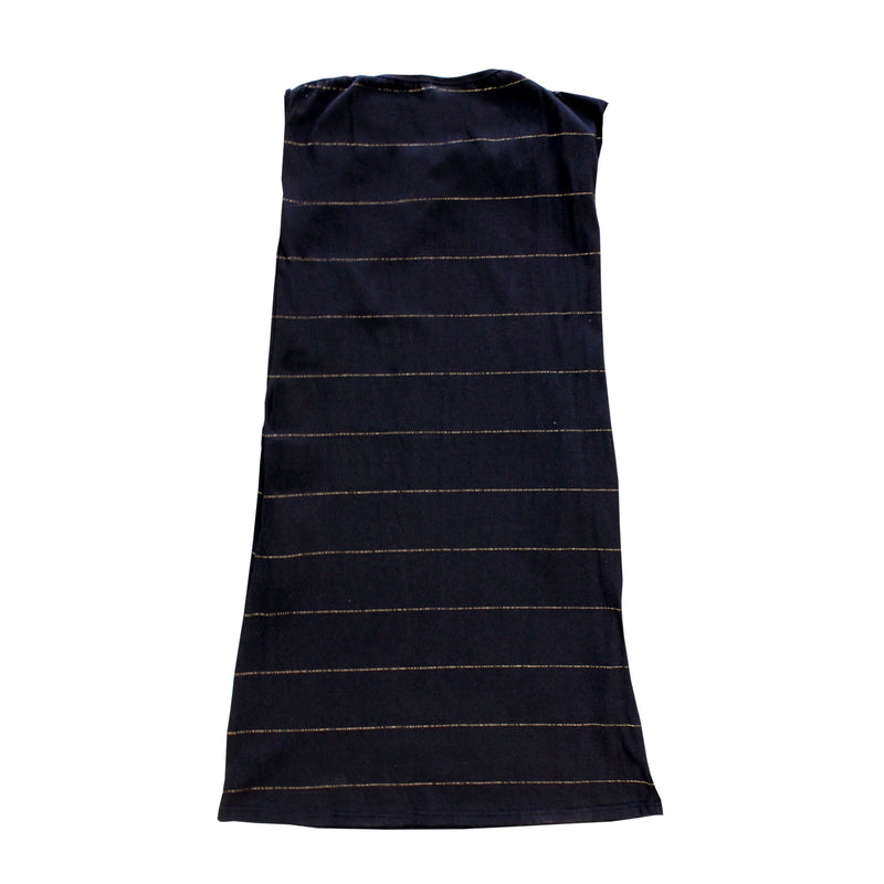 Dragstar Ever So Easy Dress - Black with Gold Lurex Stripe