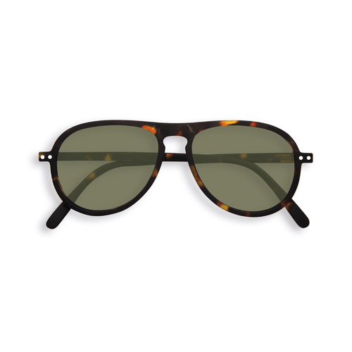 Izipizi Sunglasses Collection I Green Lenses - Tortoise