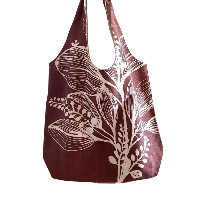 dragstar clothing sydney 100% cotton screen printed shopper bag foliage apple gren duck