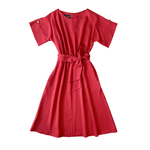 Dragstar bateau dress with sleeve - red tencel Ethical womens fashion made in Sydney Australia