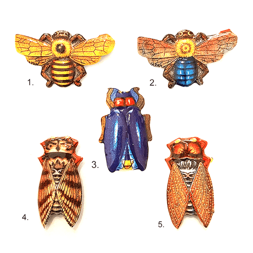 Japanese Vintage Bug Brooch - Assorted 1