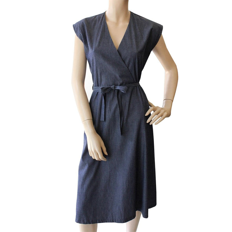 wrap dress denim look Dragstar Ethical womens fashion made in Sydney