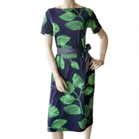 dragstar go to leaf print dress sustainable ethical slow fashion sydney 100% cotton jersey