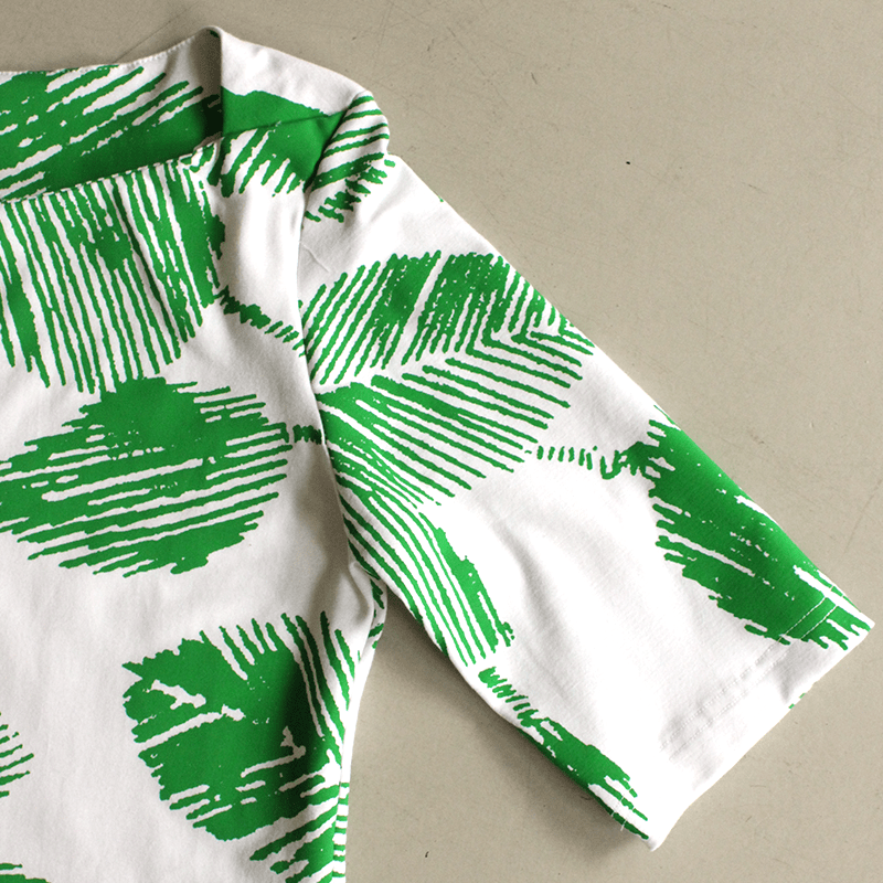 Dragstar Boatneck Tee - Green Leaf