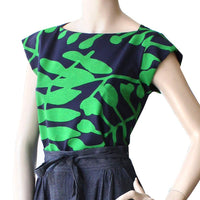 The Captain Shirt - Green ethical Womens Fashion made in Sydney by Dragstar