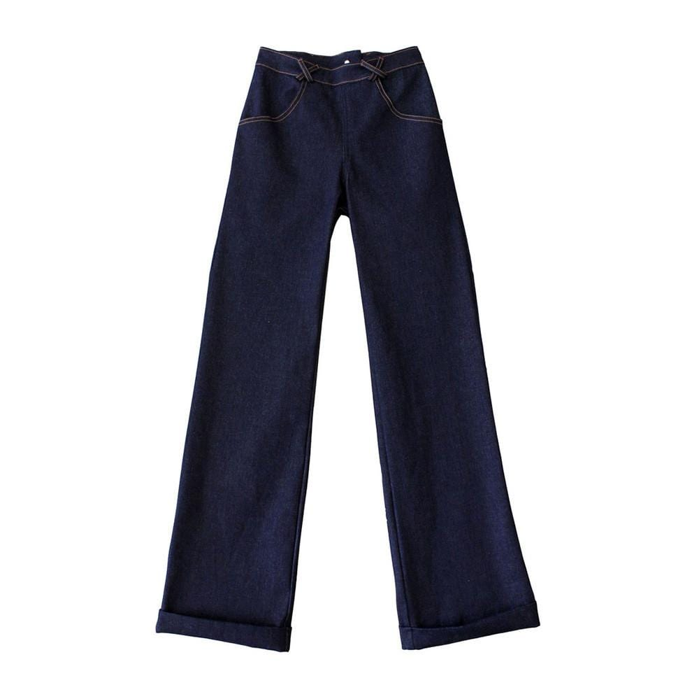 Dragstar Wide Leg Zip Back Jeans - Dark Denim