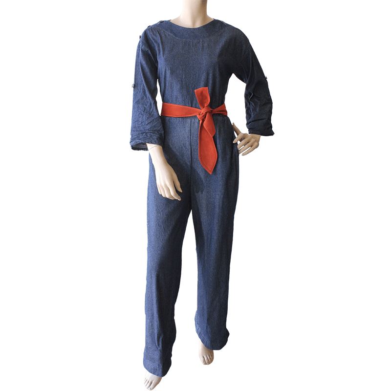 Boatneck Jumpsuit - Denim Dragstar Ethical womens fashion made in Sydney