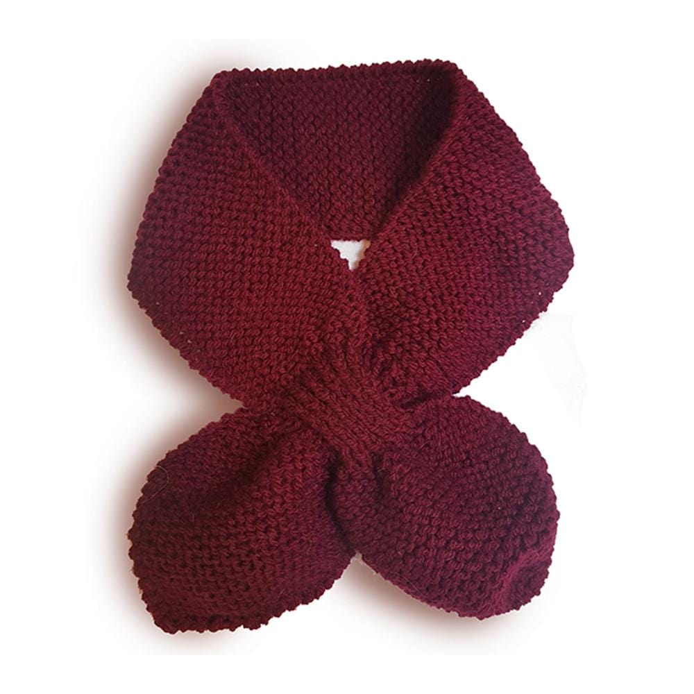 Hand Knitted Neck Warmer - maroon