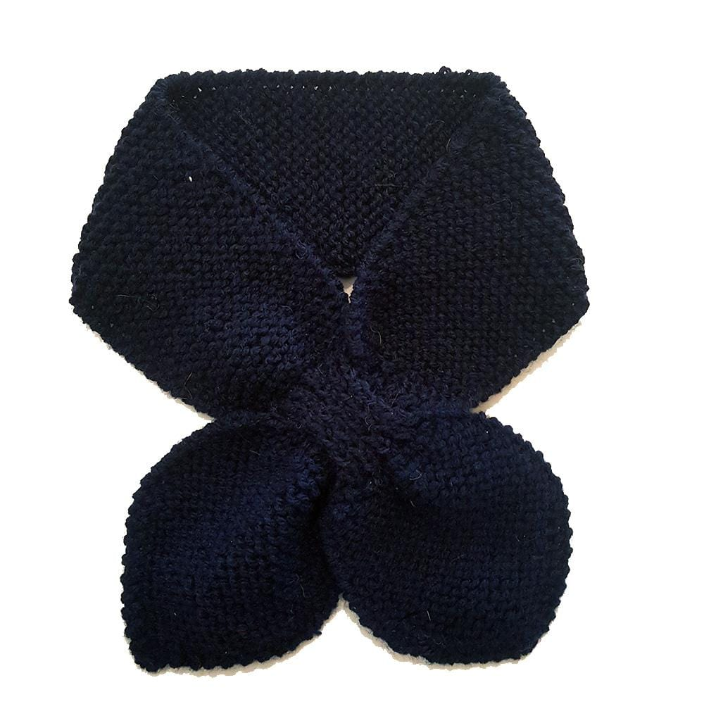 Hand knitted Neck Warmer - Navy