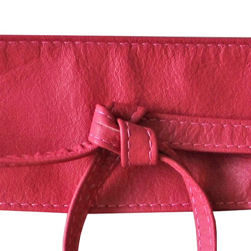Dragstar Leather Double Tie Belt - Pink