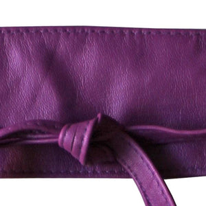 Dragstar Leather Double Tie Belt - Purple