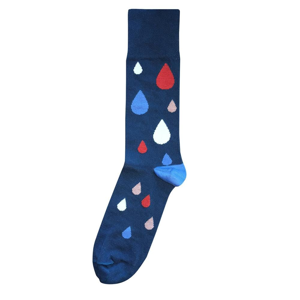 Tightology Raindrop Socks - Blue