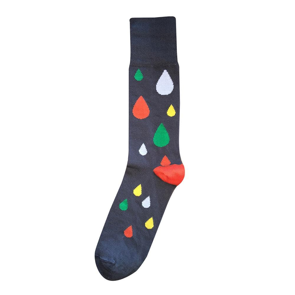 Tightology Raindrop Socks - Charcoal