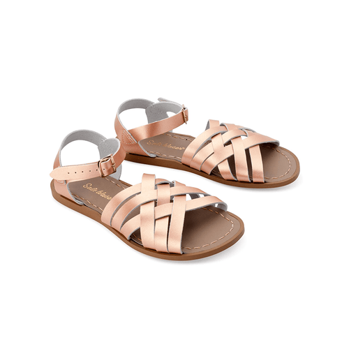 Salt Water Retro Sandals - Rose Gold